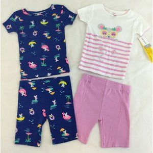 Carter's 4-Piece Pajamas Girls 4T Shorts Short PJs